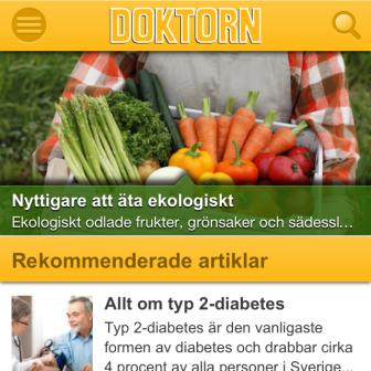 På stasrtsidan får du en snabb överblick av Doktorn.com Du kan alltid komma tillbaka hit genom att klicka på vår logga.
