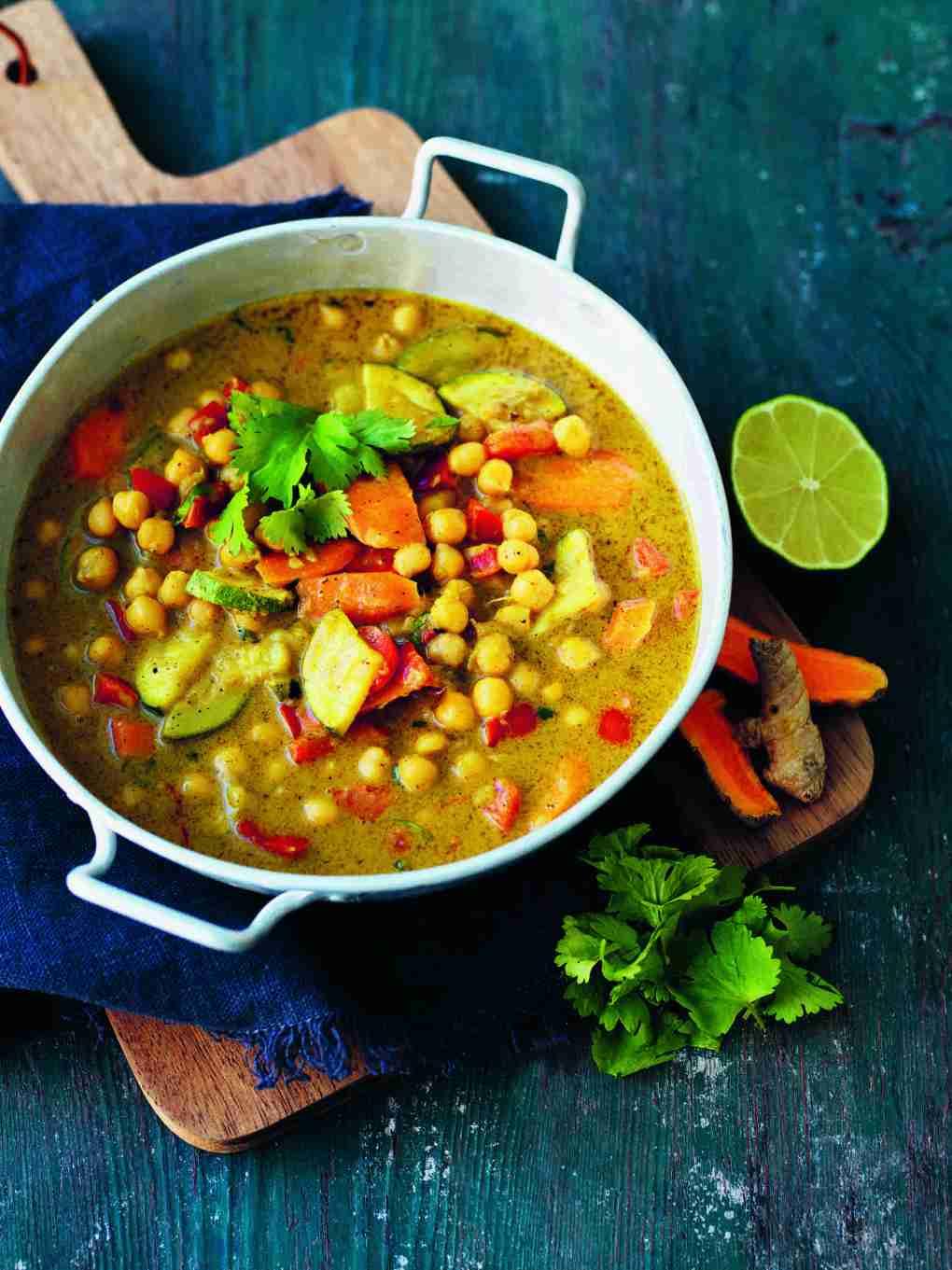 V 35 Butter Curry med Kikärtor.Högupplöst