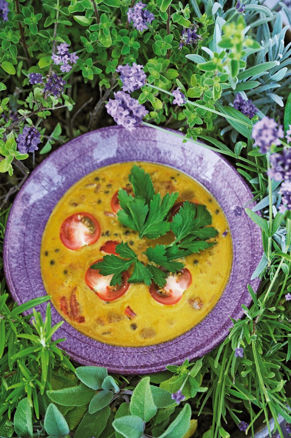 linssoppa med saffran sid 119