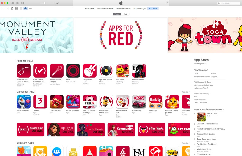 red appstore world aids day iphone ipad aids hiv apple