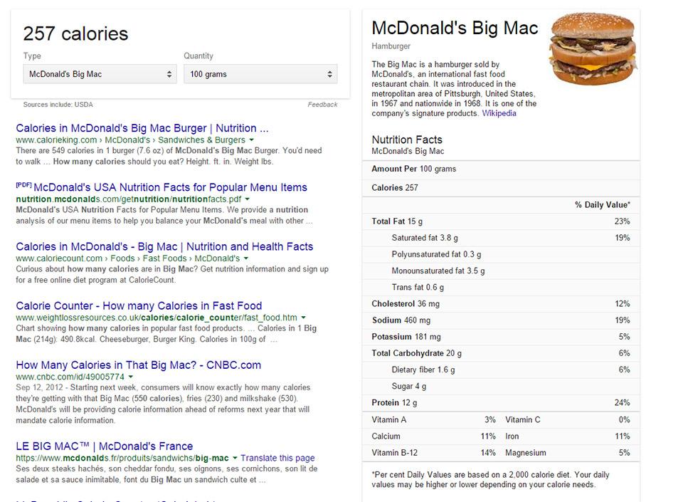 google-calories
