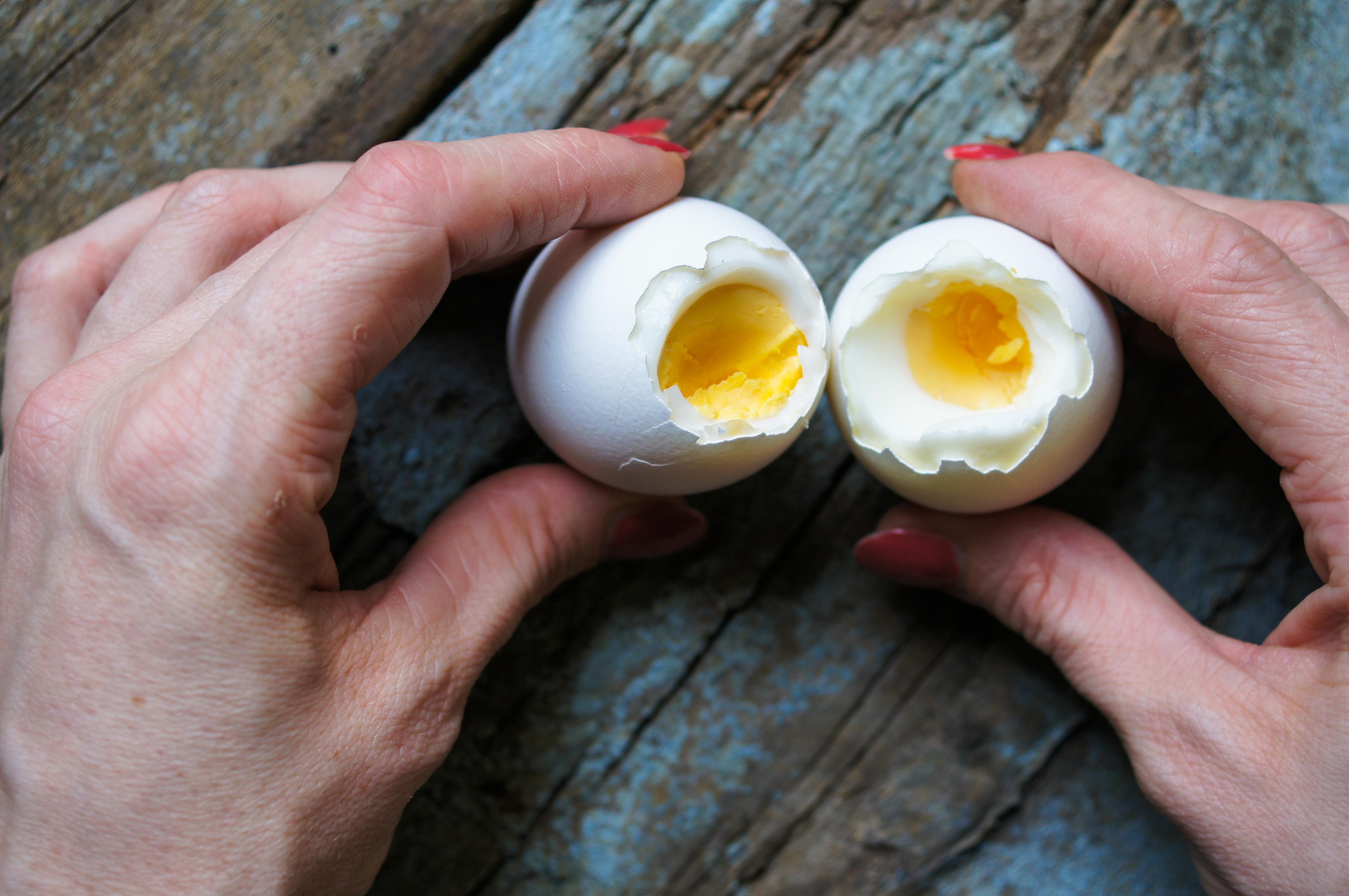 kokta ägg i kylen