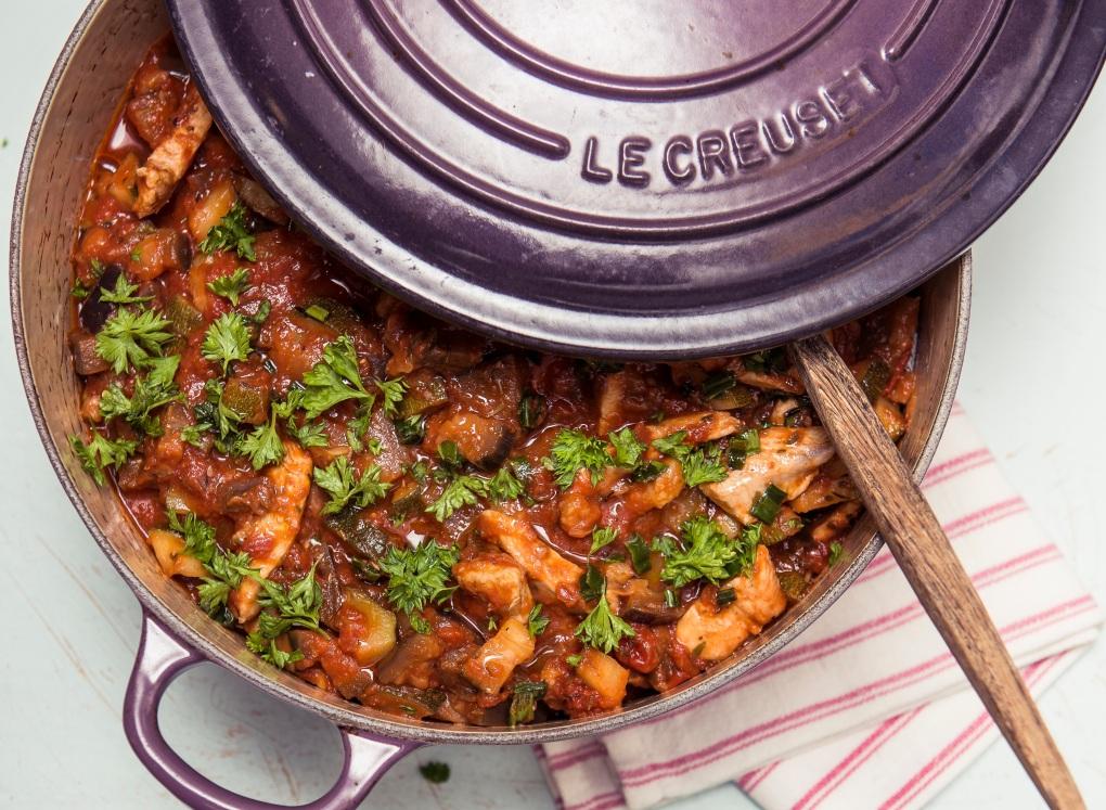 veckans recept DOKTORN Sydfransk kycklinggryta Belly Balance Sofia Antonsson mat för IBS-magar
